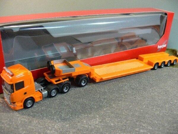 1 87 Herpa Scania R 13 HL 6x2 pendule-X semi-remorque Orange 306515