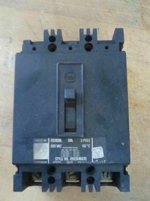 WestingHouse FB FB3020 3 Pole 20 amp Circuit Breaker
