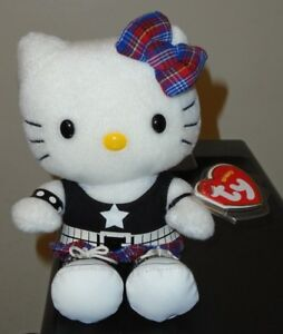 Ty Beanie Baby ~ HELLO KITTY ROCK (UK Exclusive) Cat (6.5 Inch) MWMT ... 8e3b699b6d2d