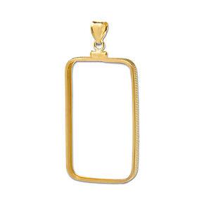 Image Is Loading 14k Gold G Plain Front Bezel 1 Gram