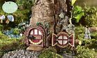 Miniature Dollhouse FAIRY GARDEN ~ Glow-In-The-Dark Redwood Fairy Door & Wind...