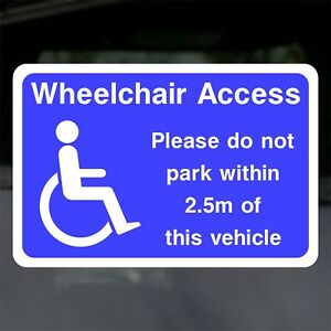 Disabled-Wheelchair-Access-Please-Do-Not-Park-2-5-m-Window-or-Body-Sticker-Decal