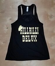 COWGIRL gYPSY HILLBILLY DELUX Black Tank Top Shirt Country Music Western XL