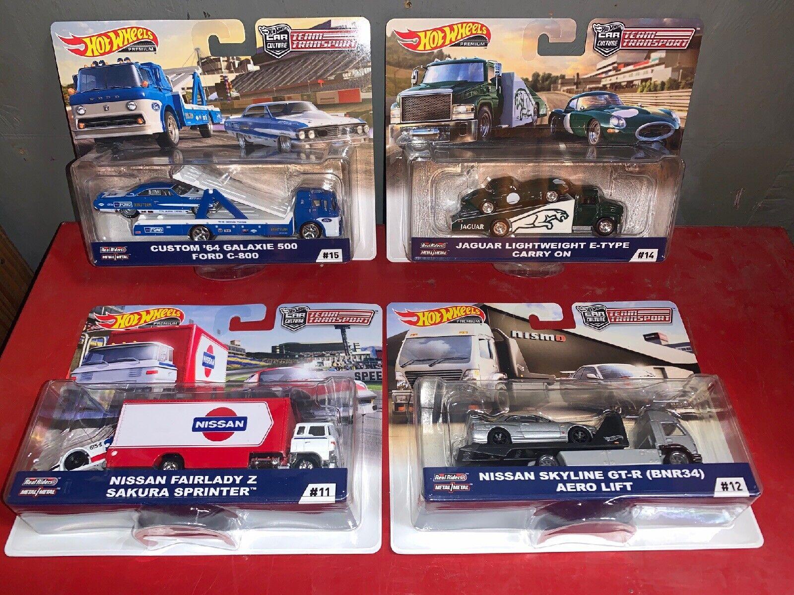 Hot Wheels Premium 1 64 Car Culture Team Transport Set  Mint