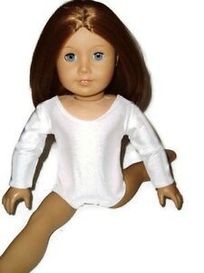 White Leotard Dance 18 inch doll clothes fits American Girl Ballet Gymnastics