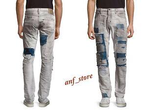e5594f6719716 NWT PRPS Goods JAPAN Demon Slim Straight Men Jeans 34 x 32 Grey ...