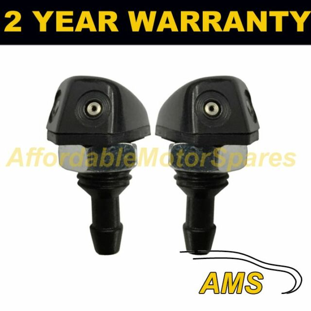 PAIR UNIVERSAL WINDSCREEN WASHER TWIN JET STRAIGHT INLET SCREW FITTING 4MM WWY11