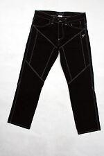 9.2 BY CARLO CHIONNA Nero Denim Jeans Straight Leg sz46 W30 GAMBE tagli COOL