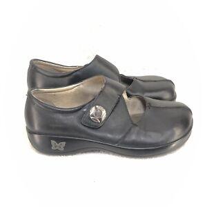 Women's Black Leather Mary Jane KAI-601