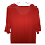 thumbnail 6 - Ann Taylor Loft Womens Scoop Neck Top Short Sleeves Pleats Red Shirt Size Large