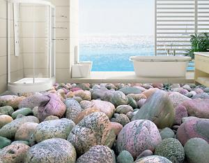3D piedras apiladas Grande Papel Pintado Mural Parojo Impresión de suelo 8 5D AJ Wallpaper Reino Unido Limón