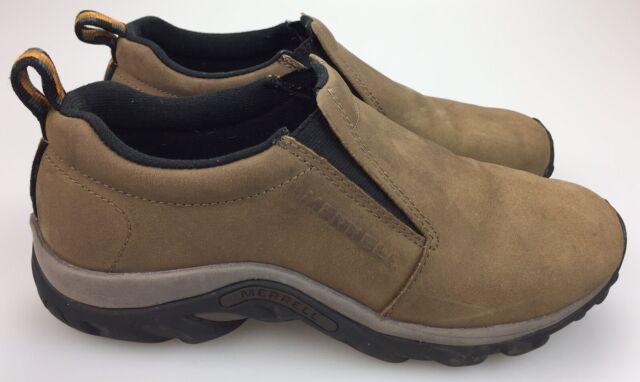 3cd0b66d4c39a MERRELL Jungle Moc Brown Loafer Slip-On Nubuck Leather Shoe Men's 8 41.5