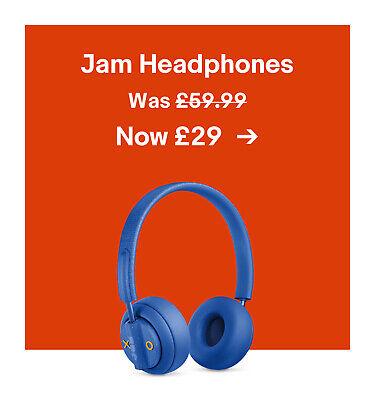 Jam Headphones. Was £59.99. Now £29.