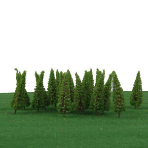 50pcs-Shrub-Trees-Model-Train-Garden-Park-Wargame-Scenery-Layout-Diorama-65mm