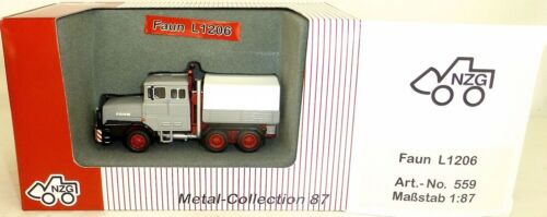 Faun l1206 súper modelo gris NZG 559 metal Collection 1:87 OVP lm1 µg *