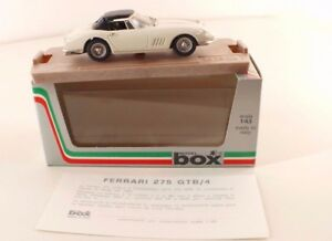 Model Box ref. 8419 Ferrari 275 GTB Spyder décapotable 1/43 mint neuf - France - État : Neuf: Objet neuf et intact, n'ayant jamais servi, non ouvert. Consulter l'annonce du vendeur pour avoir plus de détails. ... Fabricant: Model Box Emballage d'origine: Emballage d'origine Type: Voiture: passager Echelle: 1/43 Marque: mode - France