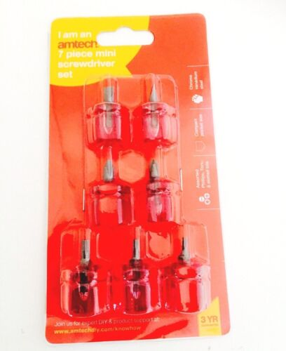 Amtech Lot de 7 mini tournevis Set Nouveau