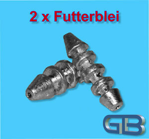 2-x-Futterblei-60g-80g-Inline-bleie-Karpfenblei-Angelbleie