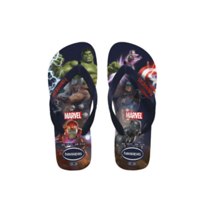 Details about  /Kids Childrens Havaianas Kids Marvel Navy Blue Sandal Flip Flop