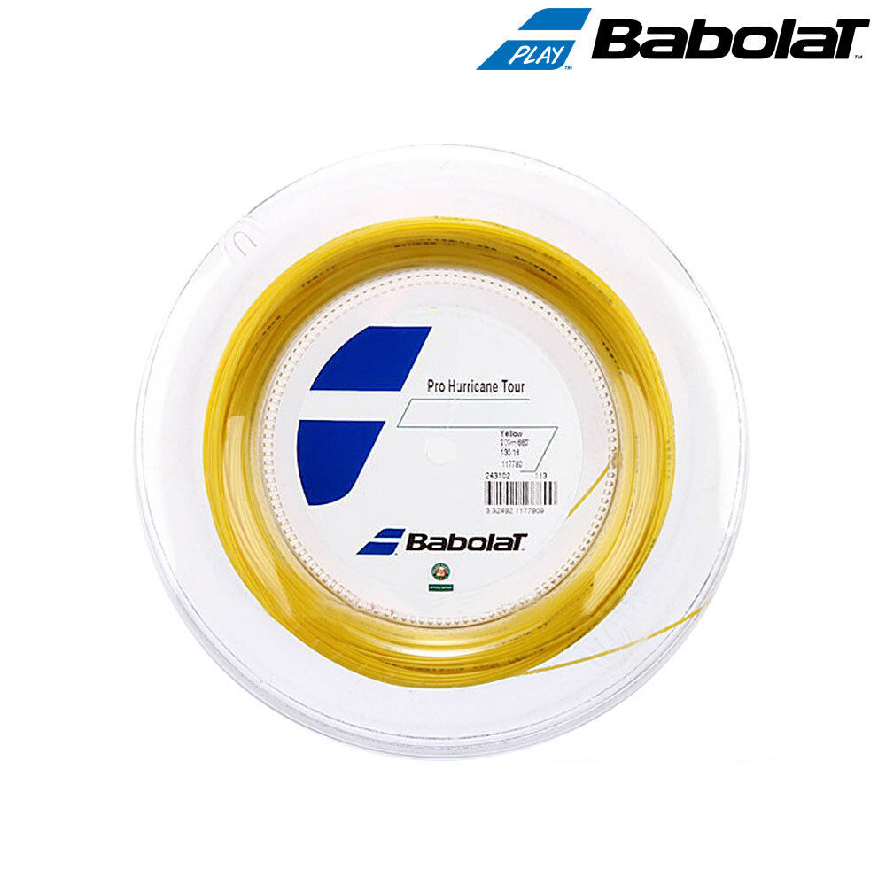Babolat Tennis String Pro Hurricane Tour 1.25mm 17G 120M 394ft Yellow