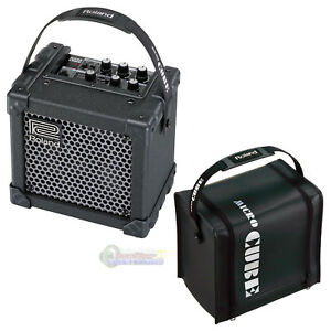 roland micro cube gx battery powered guitar amplifier w cb mcc1b cover black 744271622041 ebay. Black Bedroom Furniture Sets. Home Design Ideas