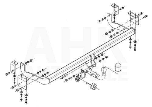 Für Renault Kangoo II ab 08 Kpl AHK Anhängerkupplung starr+ES 7p uni