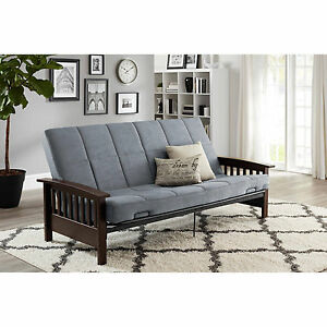 Image Is Loading Convertible Futon Sofa Bed Couch Full Size Mattress