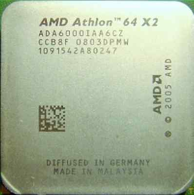 AMD Dual Core CPU Athlon 64X2 6000+  3.0GHz Socket AM2 ADA6000IAA6CZ 89W