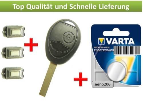 2 teclas button carcasa key cle chiave IIave case Repair para mini r50 r52 one s