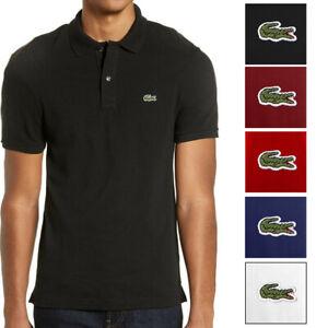Lacoste-Men-039-s-PH4012-Cotton-Short-Sleeve-Slim-Fit-Polo-Shirt