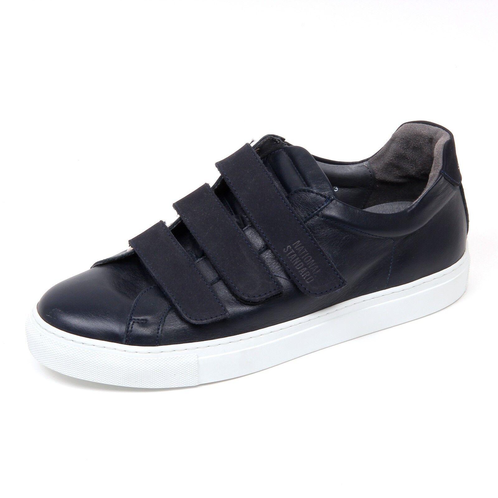 D0172 sneaker uomo NATIONAL STANDARD STANDARD STANDARD scarpa blu strappi shoe man 9cfa99