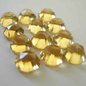AAA-Quality-25-Piece-Natural-Citrine-5x5-mm-Round-Rose-Cut-Loose-Gemstone