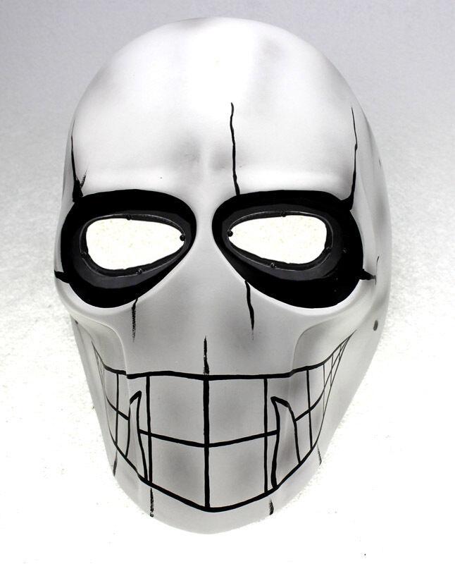 White Paintball CS Airsoft Full Face PC Lens Eye Predection Skull Mask PROP