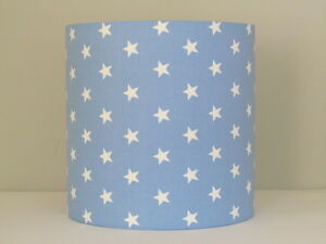 Handmade baby blue white star 25cm 30cm lampshade lightshade image is loading handmade baby blue white star 25cm 30cm lampshade aloadofball Images