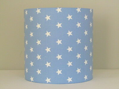 Baby Blue White Star Lampshade Ceiling, White Childrens Lampshade