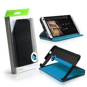 detailing c7e8d e56c7 Details about GENUINE HTC One M7 Double Dip Flip Case Cover Black / Blue -  HC V841