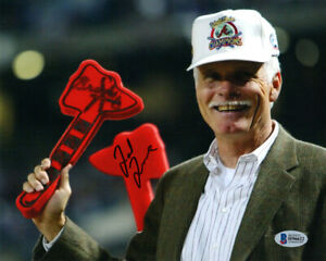 TED TURNER SIGNED AUTOGRAPHED 8x10 PHOTO ATLANTA BRAVES OWNER RARE BECKETT BAS