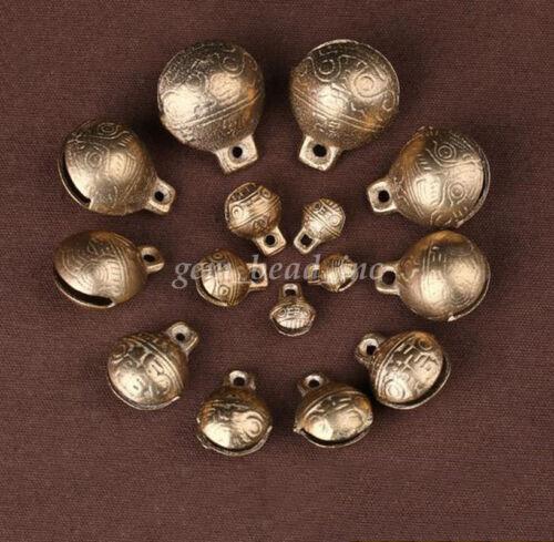 Tibetan Brass cloches recueillis Craft Temple Small Metal Bead Bracelet Making