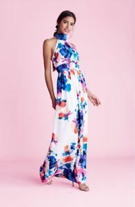 Eliza J Print floral print halter Maxi Dress