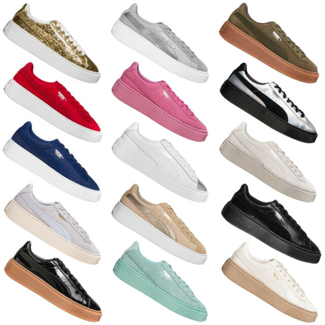 PUMA Basket Platform Damen Sneaker Freizeit Schuhe Damenschuhe Sneakers neu