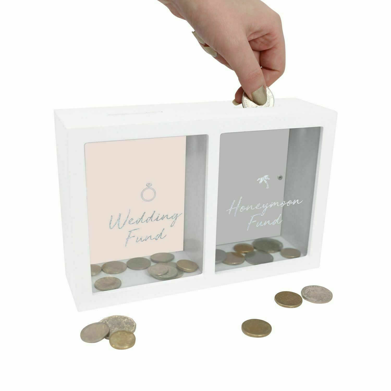 Wedding Money Box Piggy Bank Fund For Honeymoon Change Savings Engagement Gift For Sale Online