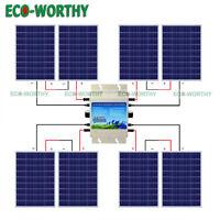 800w 24v Grid Tie Kit :8100w Solar Panel W/1200w Waterproof Inverter Home Power