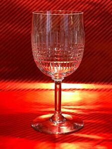 BACCARAT-NANCY-approx-6-3-4-in-TALL-Crystal-water-wine-goblet-glasses