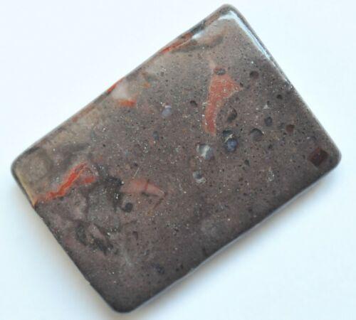 Divers 35x25 mm Imperial Jaspis rectangles percés Photo ORIGINALE