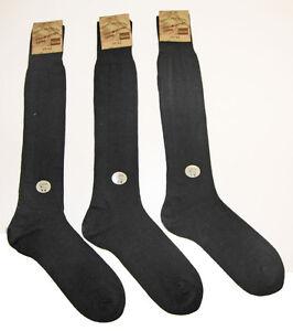 Lot-de-3-paires-Chaussettes-Mi-Bas-Homme-Longue-Haute-24-Laine-Sans-Couture