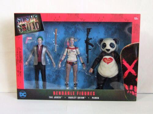 Suicide Squad déformable Figurines Coffret Le Joker Harley Quinn /& Panda