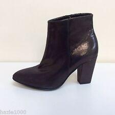 Fab K&S Lilli bronze glitter leather ankle boots, UK 5/EU 38, RRP £175, BNWB