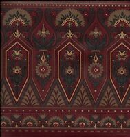 Victorian Architectural Trim On Burgundy Wallpaper Border