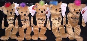 5-Hard-ROCK-Cafe-TOKYO-2009-PUNK-ROCK-Teddy-Bearas-w-Mohawk-Plush-Bear-ARCHIVE