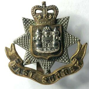 1953-59-East-Surrey-Regiment-Small-side-cap-badge-3-3-x3-3-cm-039-s